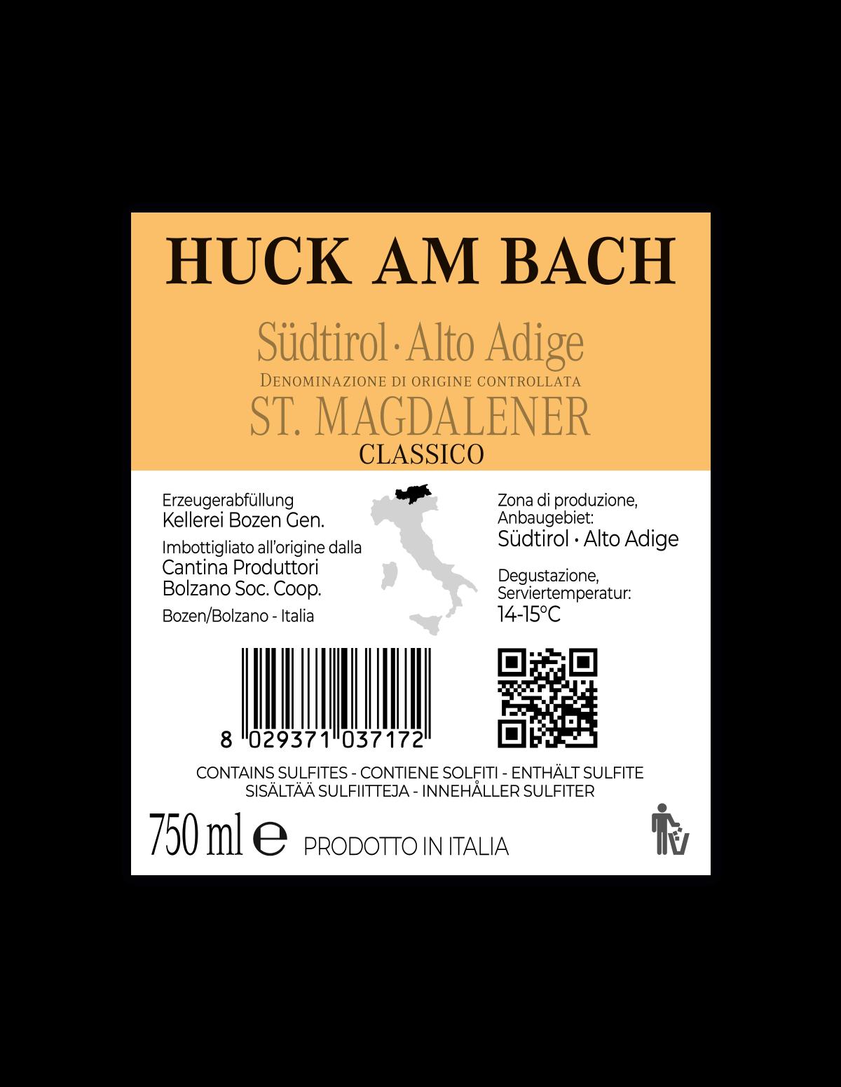 HUCK AM BACH ST. MAGDALENER CLASSICO Südtirol • Alto Adige DOC 2019