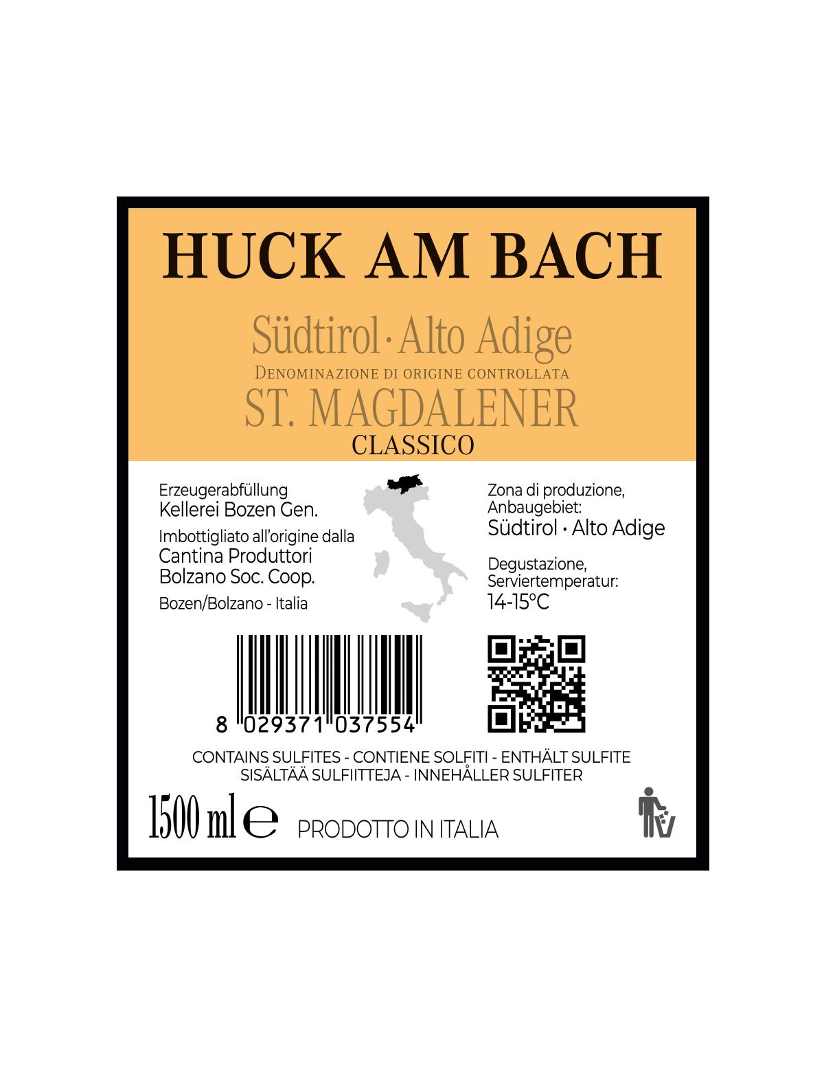 Magnum HUCK AM BACH ST. MAGDALENER CLASSICO Südtirol • Alto Adige DOC 2019