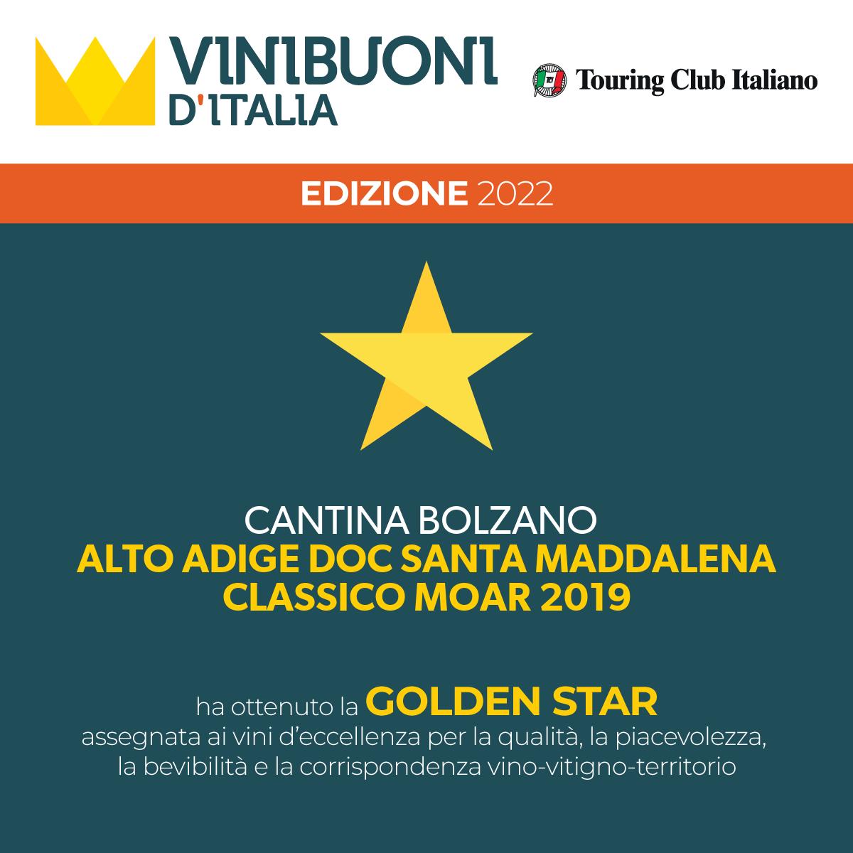 Magnum MOAR ST. MAGDALENER CLASSICO Südtirol • Alto Adige DOC 2019