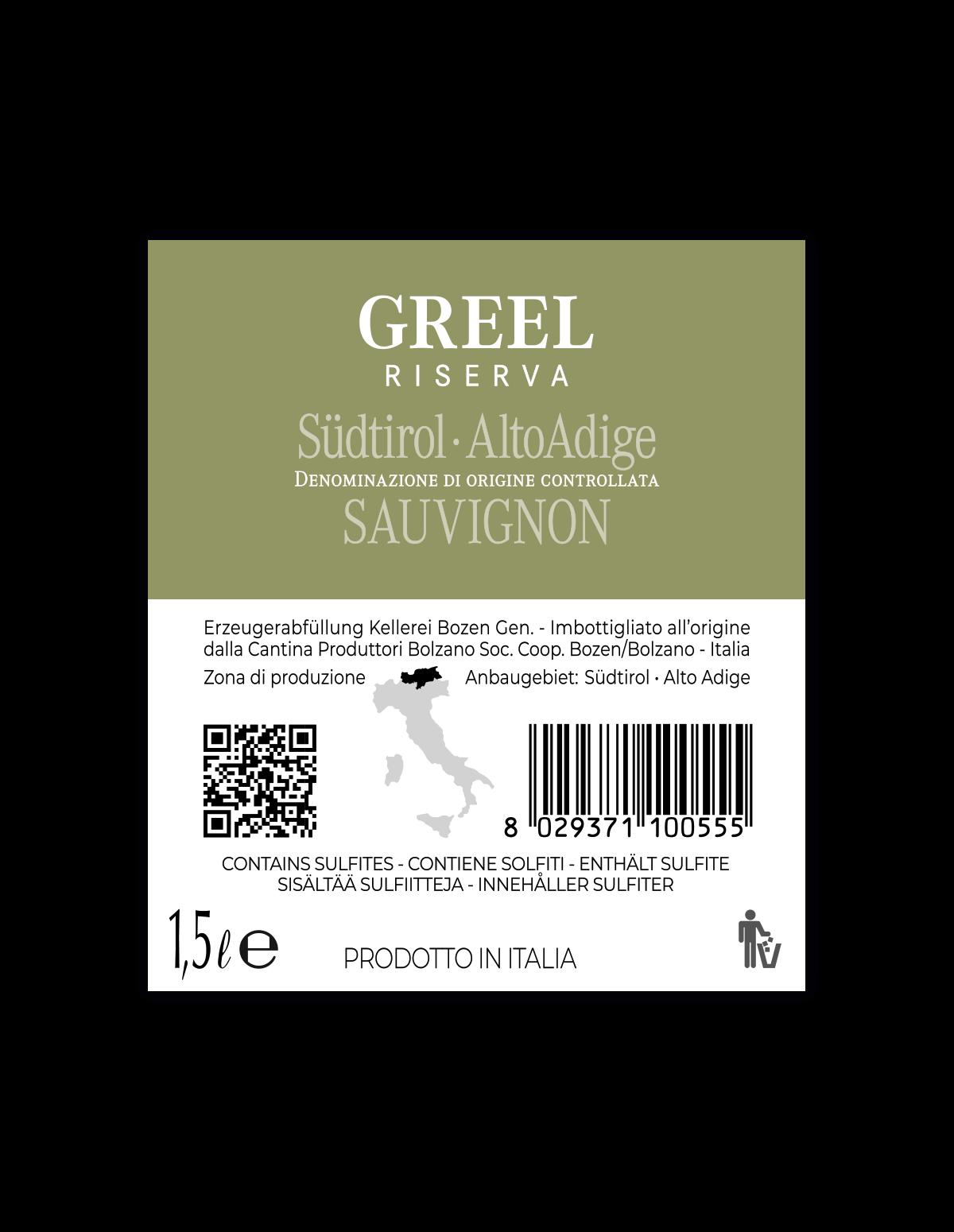 Magnum GREEL SAUVIGNON RISERVA Südtirol • Alto Adige DOC 2018