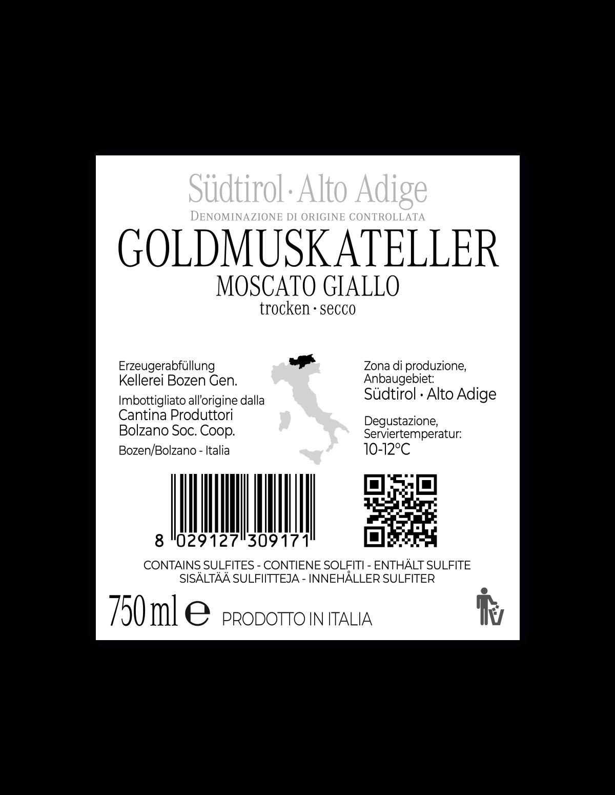 GOLDMUSKATELLER trocken Südtirol • Alto Adige DOC 2020