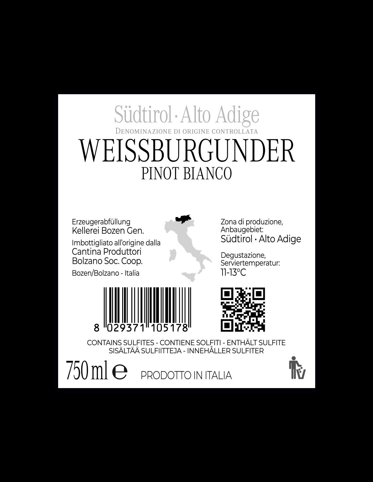 WEISSBURGUNDER Südtirol • Alto Adige DOC 2019