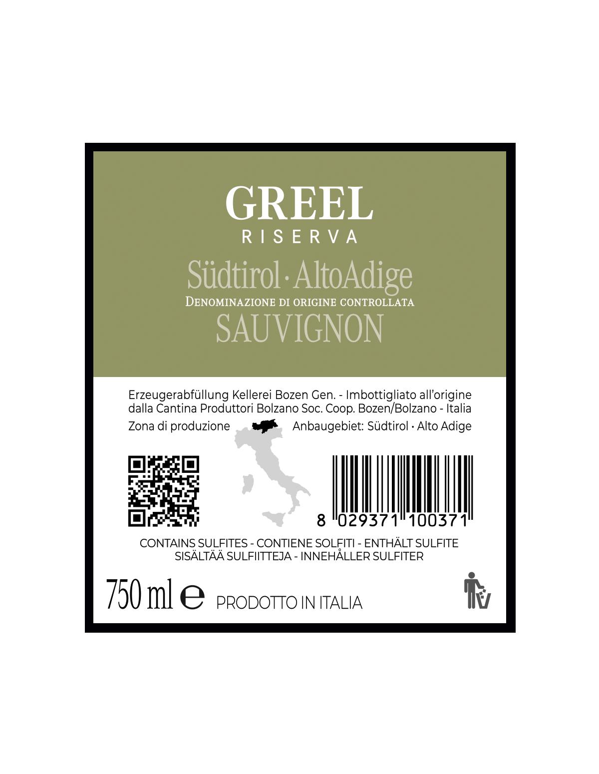 GREEL SAUVIGNON RISERVA Südtirol • Alto Adige DOC 2018