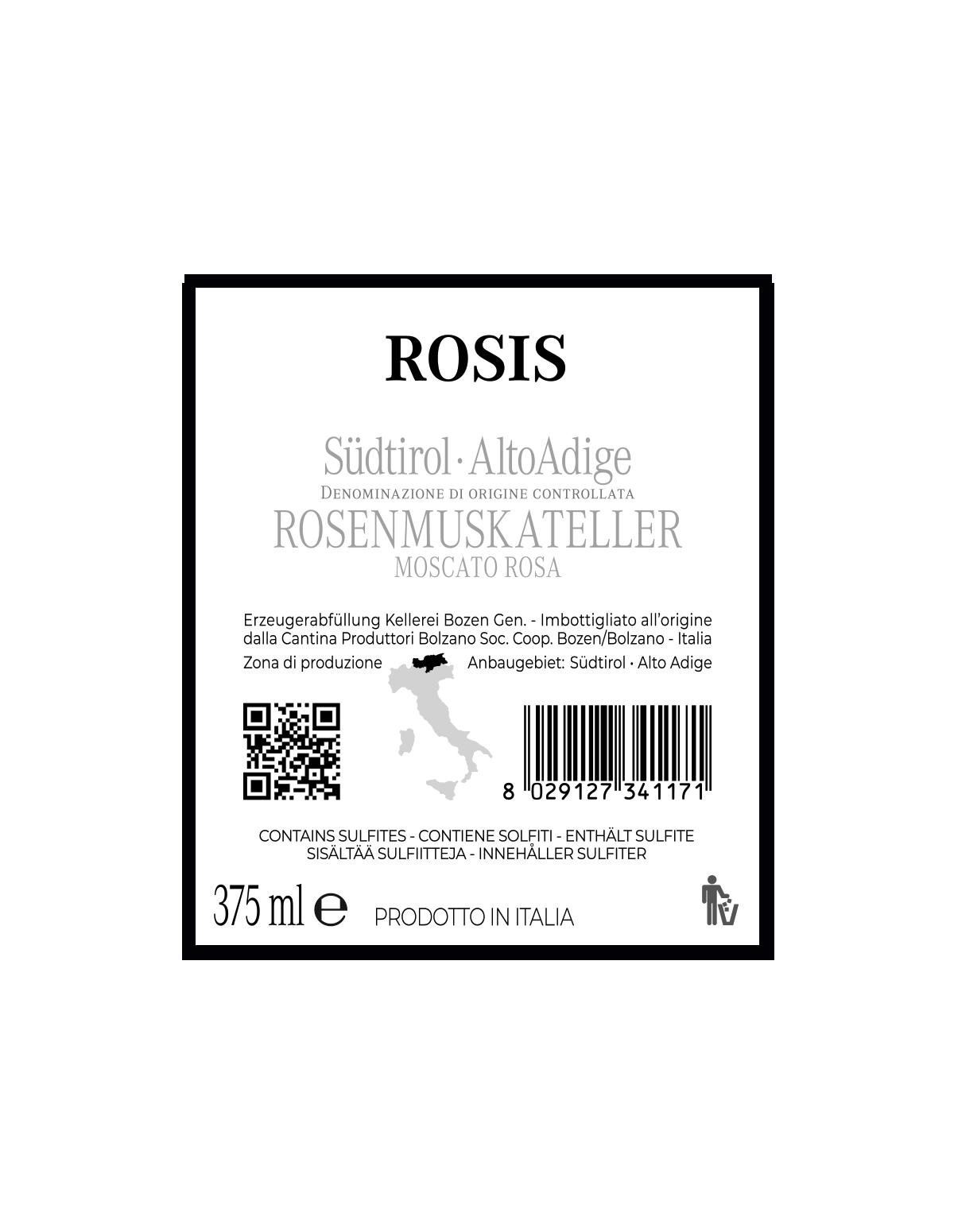 ROSIS ROSENMUSKATELLER Südtirol • Alto Adige DOC 2019