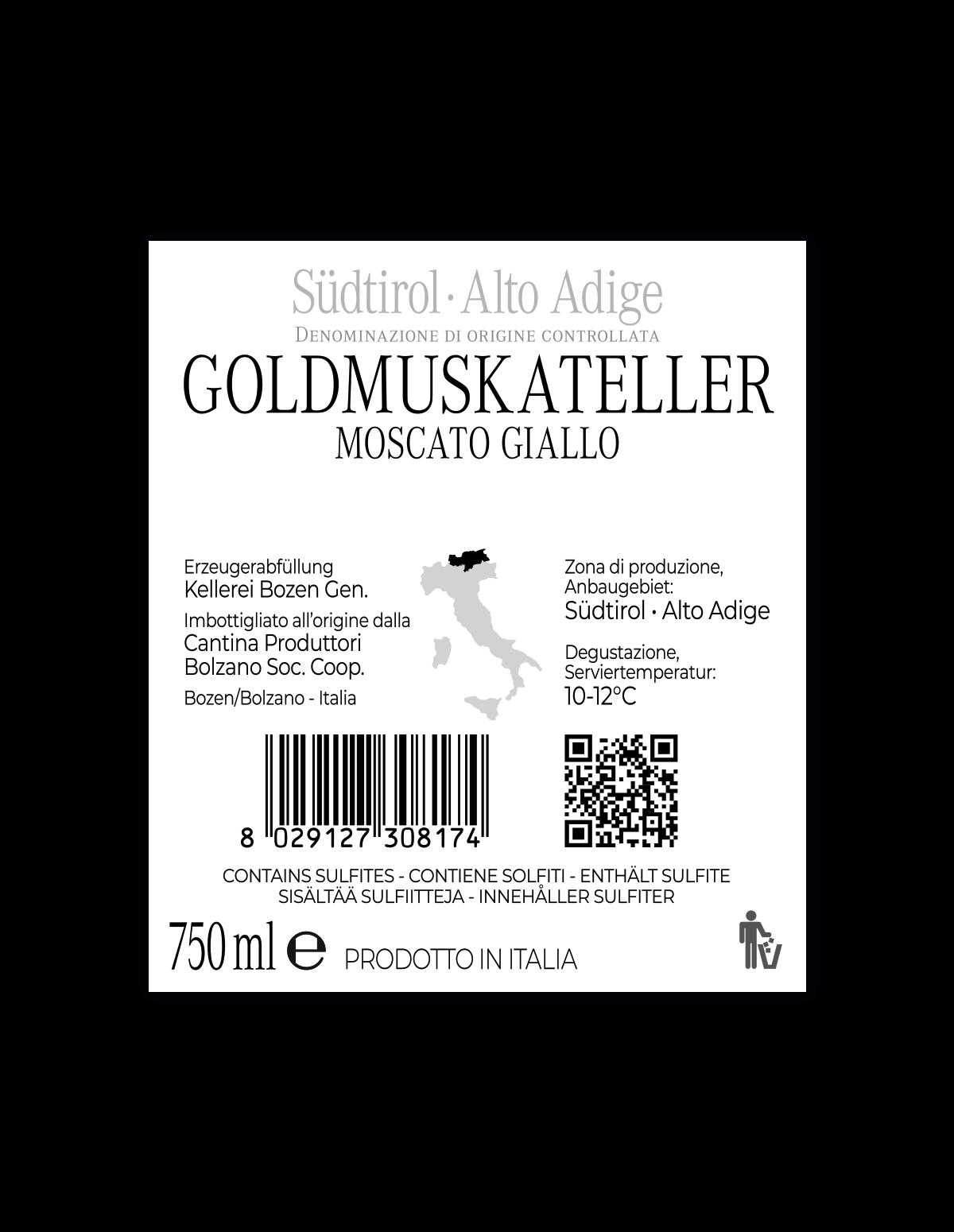 GOLDMUSKATELLER süß Südtirol • Alto Adige DOC 2019