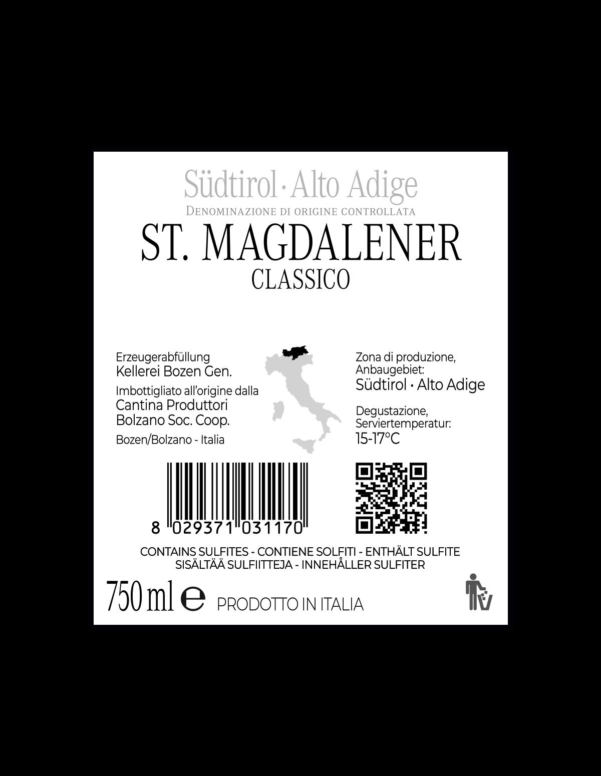 ST. MAGDALENER CLASSICO Südtirol • Alto Adige DOC 2019