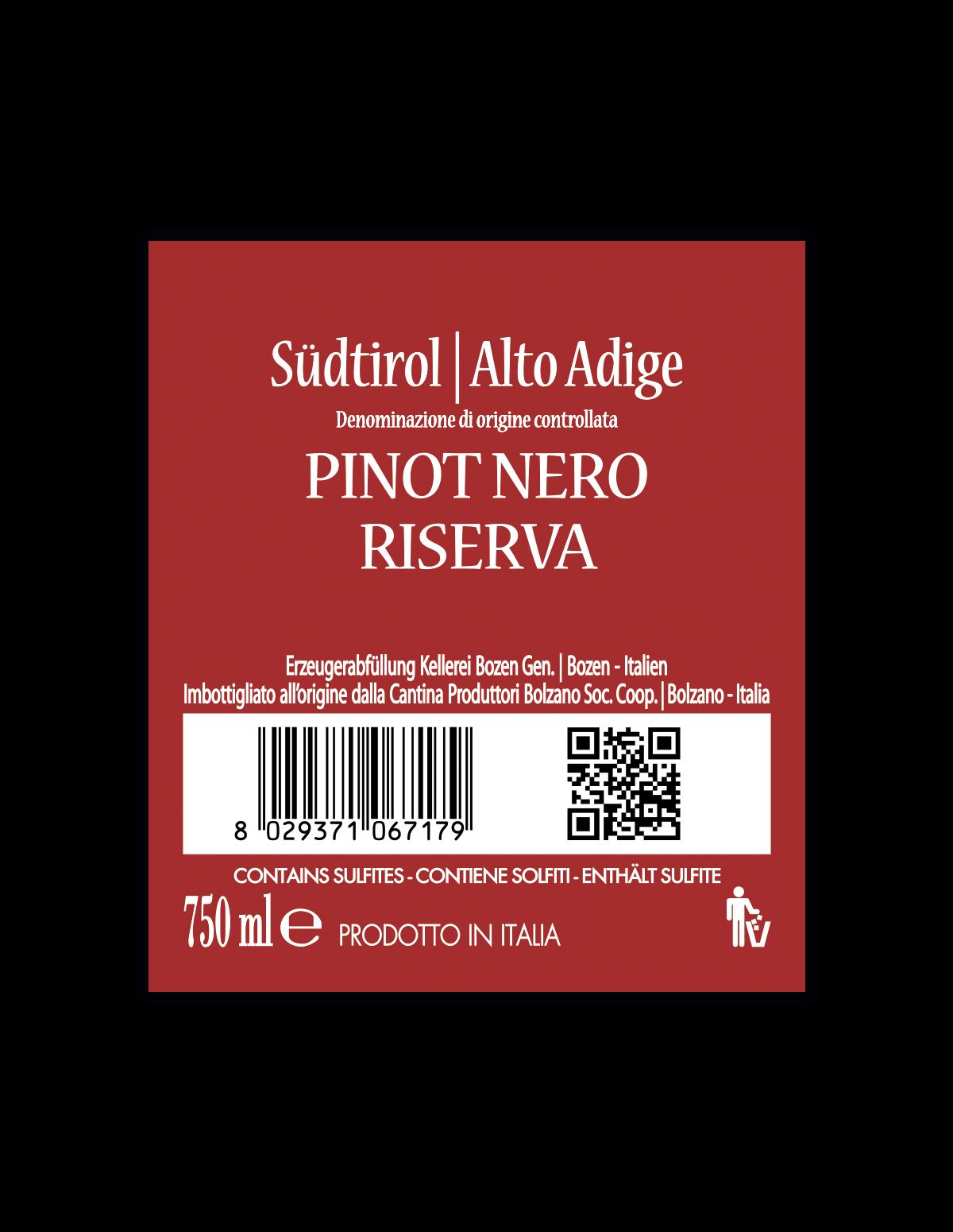 PINOT NERO RISERVA Südtirol • Alto Adige DOC 2018