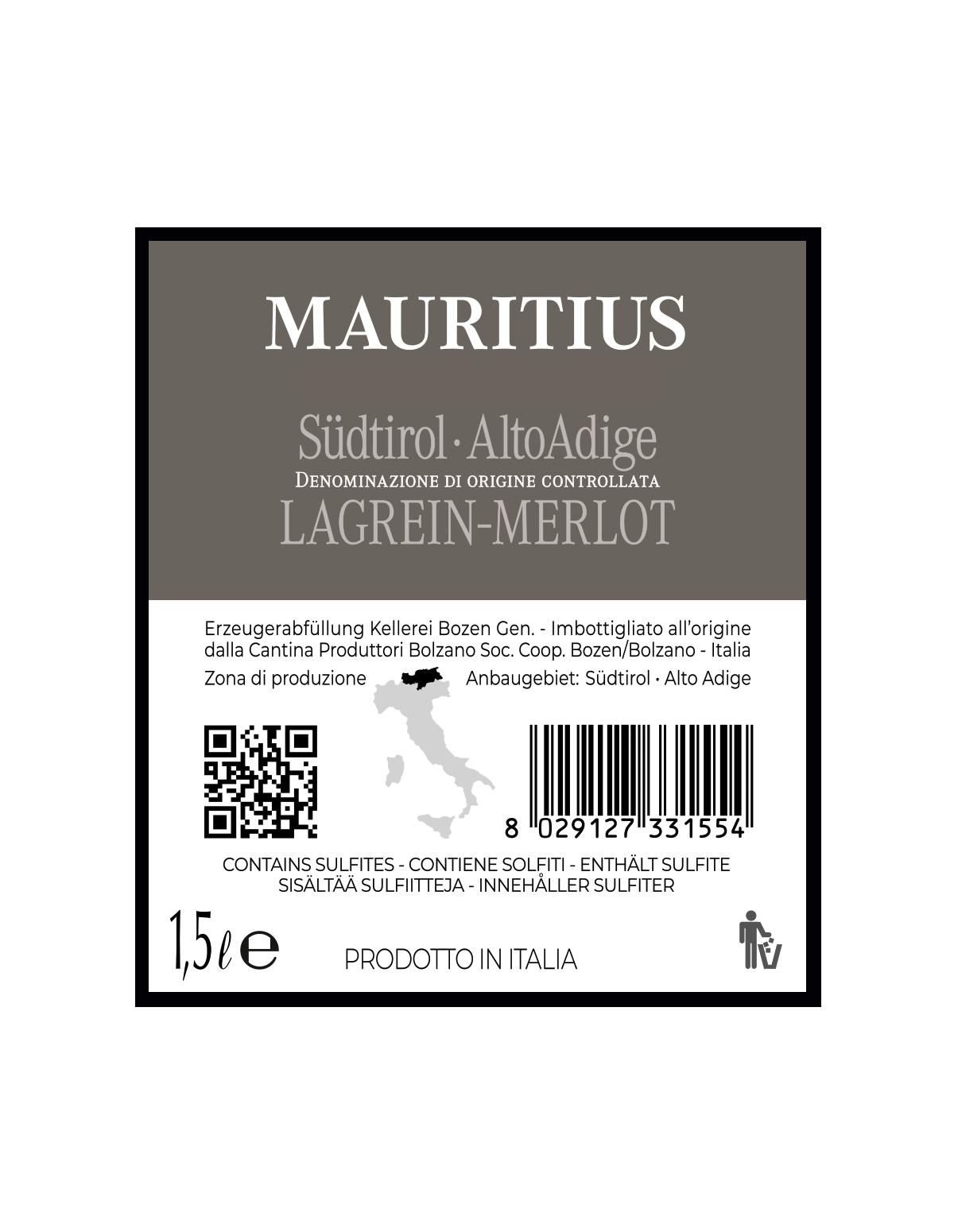 Magnum MAURITIUS LAGREIN-MERLOT Südtirol • Alto Adige DOC 2018