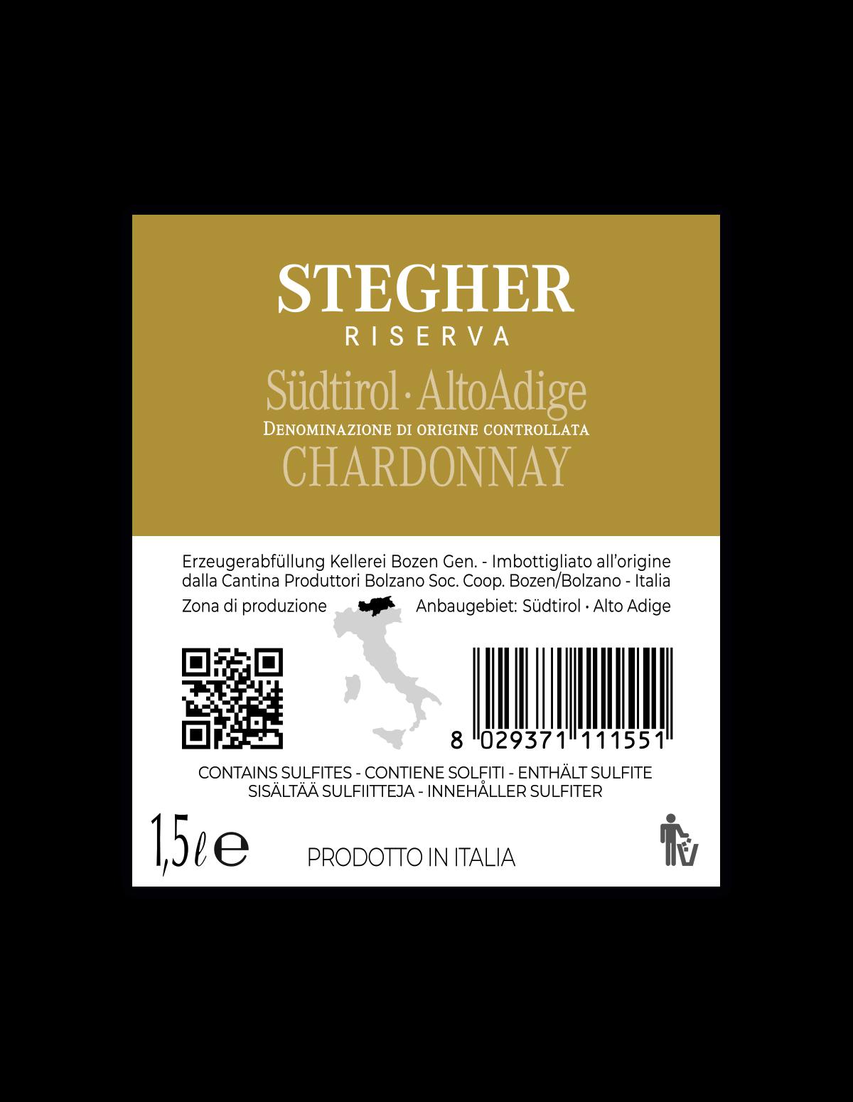 Magnum STEGHER CHARDONNAY RISERVA Südtirol • Alto Adige DOC 2018