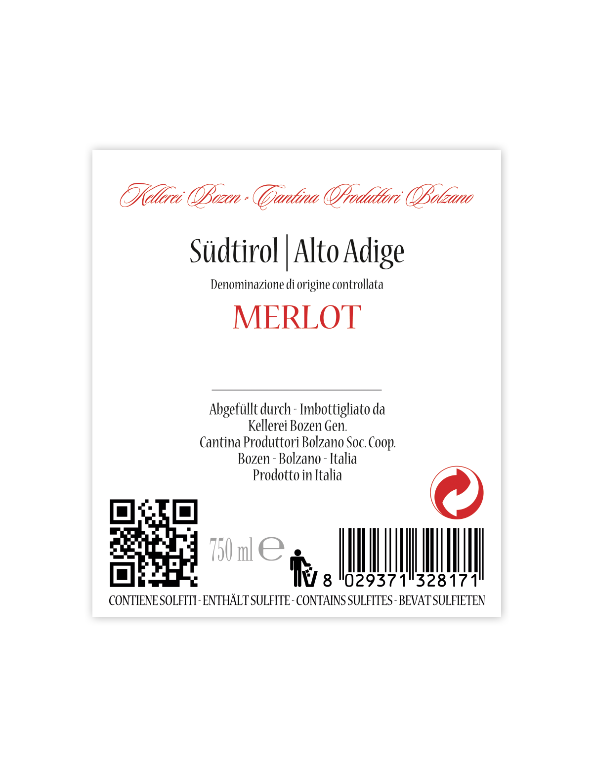 MERLOT Südtirol • Alto Adige DOC 2019